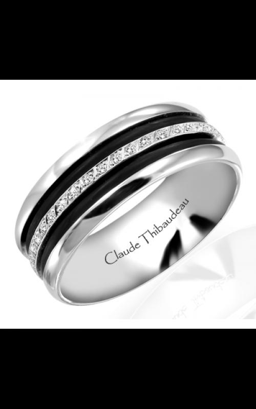 Claude Thibaudeau Black Hevea Wedding band PLT-1566-H product image