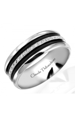 Claude Thibaudeau Black Hevea Wedding Band PLT-1566-H product image