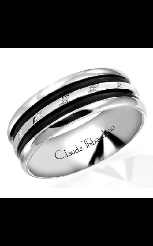 Claude Thibaudeau Black Hevea Wedding band PLT-1584-H product image
