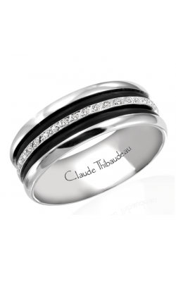 Claude Thibaudeau Black Hevea Wedding Band PLT-1585-H product image