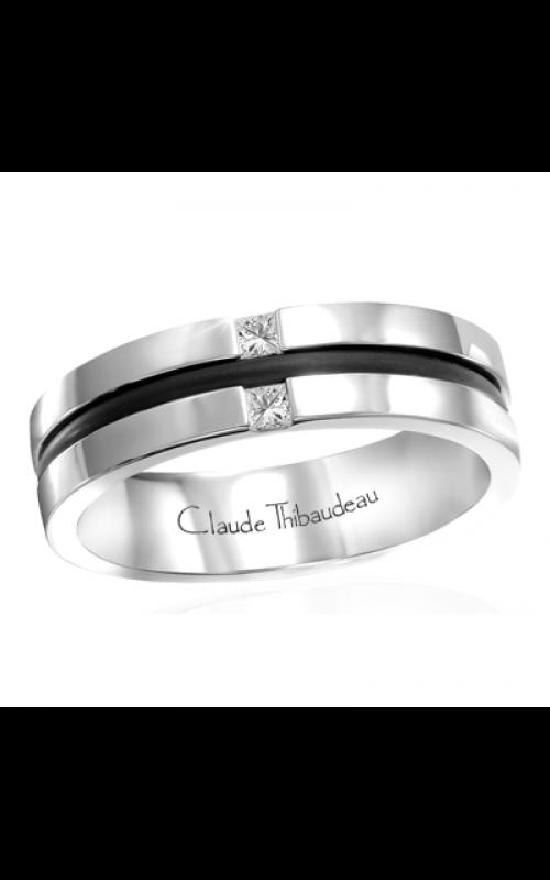 Claude Thibaudeau Black Hevea Wedding band PLT-1637-H product image