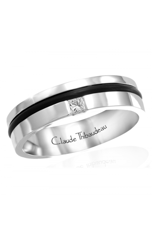 Claude Thibaudeau Black Hevea Wedding band PLT-1641-H product image