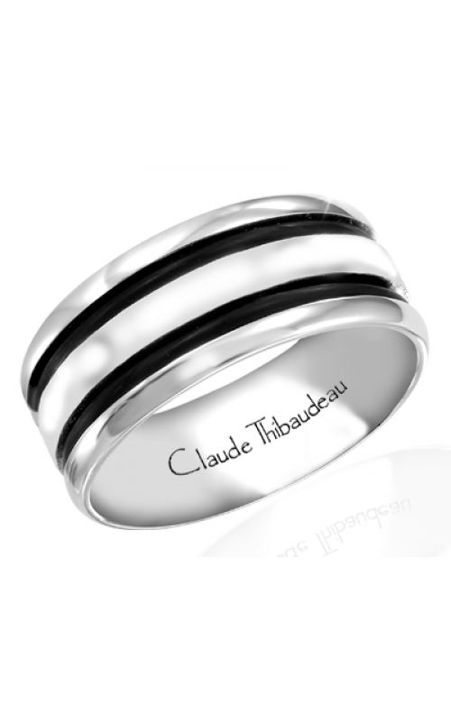 Claude Thibaudeau Black Hevea Wedding band PLT-1642-H product image
