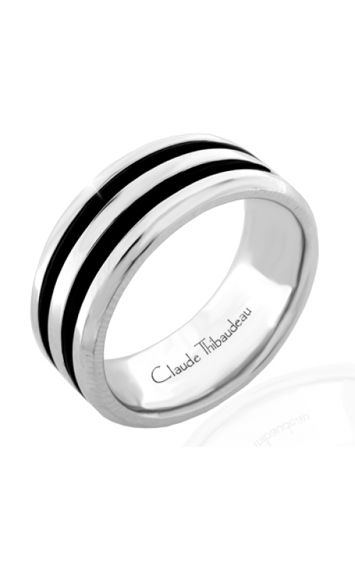 Claude Thibaudeau Black Hevea Wedding band PLT-1657-H product image