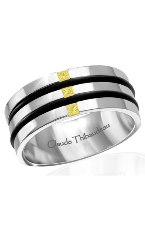 Claude Thibaudeau Black Hevea Wedding band PLT-1663-H product image