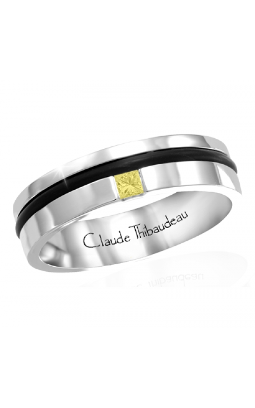 Claude Thibaudeau Black Hevea Wedding band PLT-1664-H product image