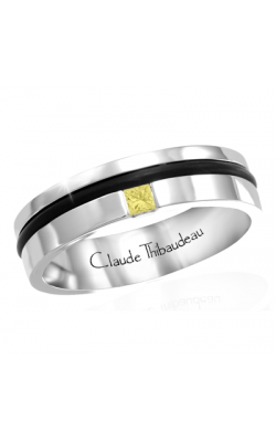 Claude Thibaudeau Black Hevea Wedding Band PLT-1664-H product image