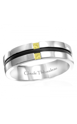 Claude Thibaudeau Black Hevea Wedding band PLT-1665-H product image