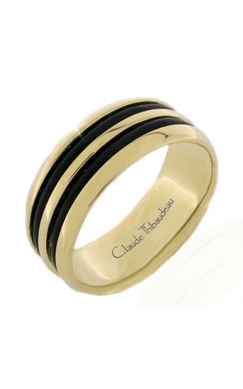 Claude Thibaudeau Black Hevea Wedding band PLT-2586-H product image