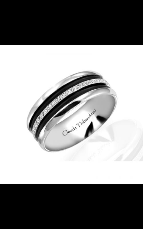 Claude Thibaudeau Black Hevea Wedding band PLT-1566-F product image