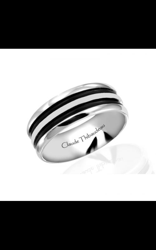 Claude Thibaudeau Black Hevea Wedding band PLT-1570-F product image