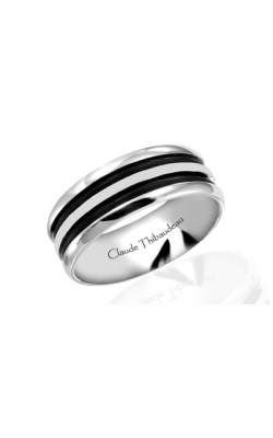 Claude Thibaudeau Black Hevea Wedding Band PLT-1570-F product image