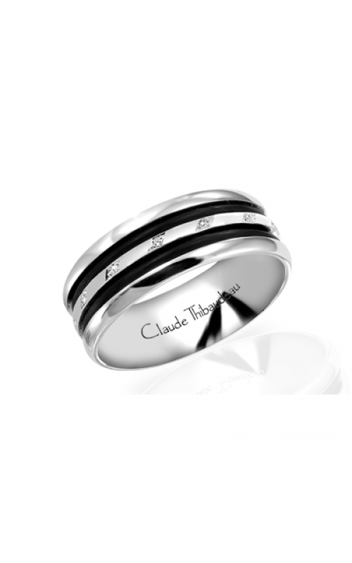 Claude Thibaudeau Black Hevea Wedding band PLT-1584-F product image