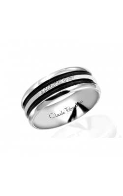 Claude Thibaudeau Black Hevea Wedding Band PLT-1587-F product image