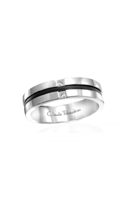 Claude Thibaudeau Black Hevea Wedding band PLT-1637-F product image