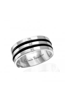 Claude Thibaudeau Black Hevea Wedding Band PLT-1640-F product image