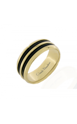 Claude Thibaudeau Black Hevea Wedding Band PLT-2586-F product image