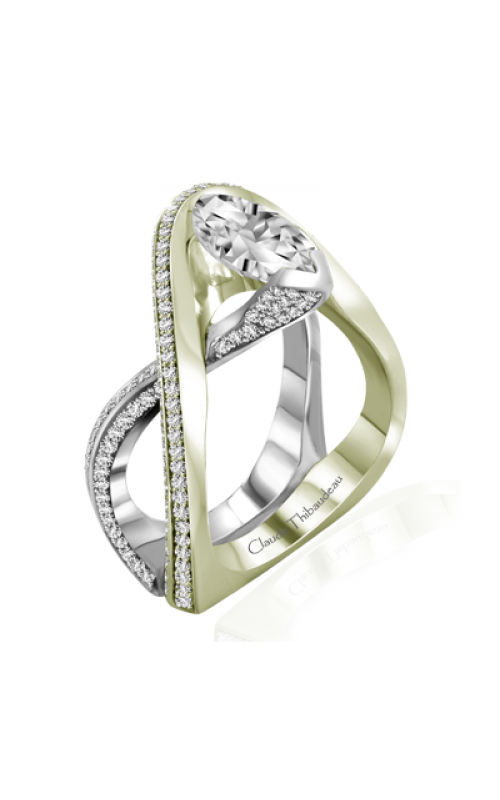 Claude Thibaudeau Avant-Garde Engagement ring PLT-10004V-MP product image