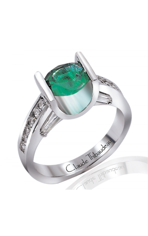 Claude Thibaudeau Colored Stone Engagement ring PLT-1165 product image