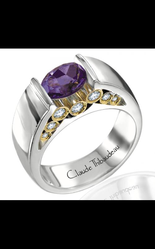 Claude Thibaudeau Colored Stone Engagement ring PLT-1258 product image