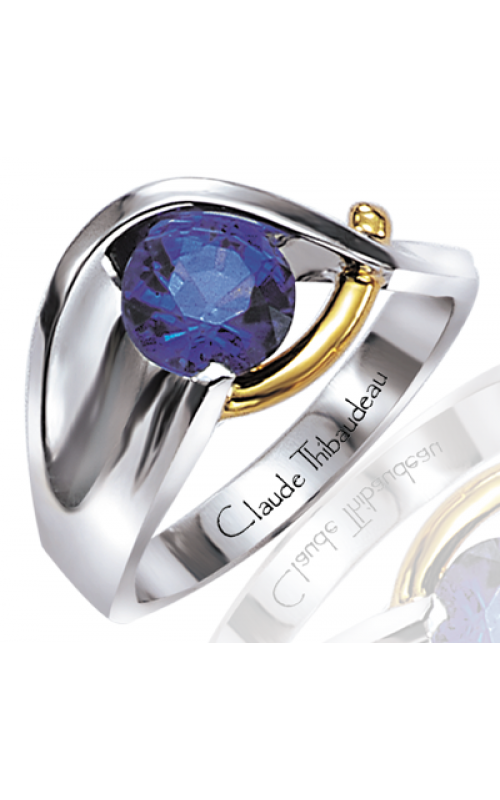 Claude Thibaudeau Colored Stone Engagement ring PLT-16 product image