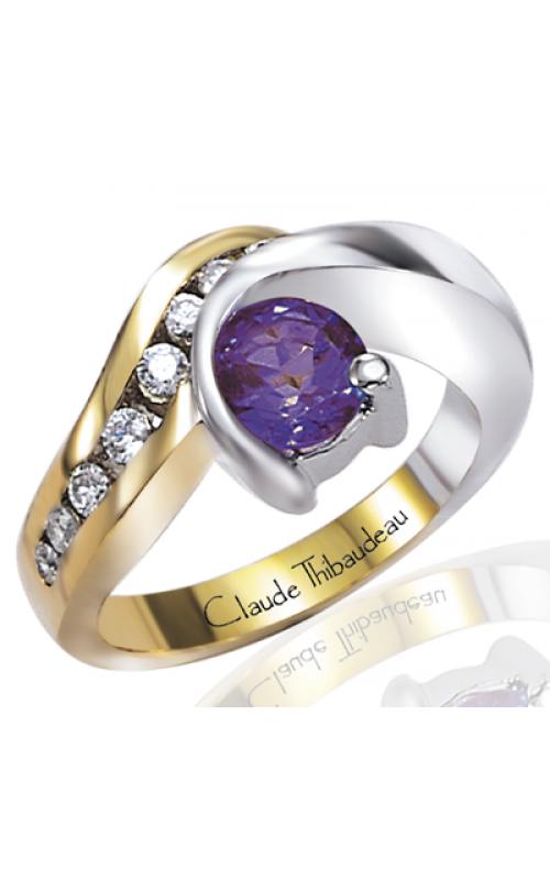 Claude Thibaudeau Colored Stone Engagement ring PLT-2069 product image