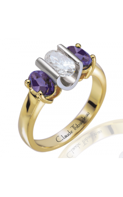 Claude Thibaudeau Colored Stone Engagement ring PLT-2338 product image