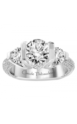 Claude Thibaudeau European Micro-Pave Engagement ring MODPLT-1802-MP product image