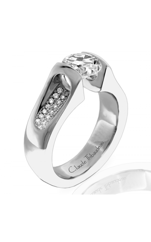 Claude Thibaudeau European Micro-Pave Engagement ring PLT-1062-MP product image