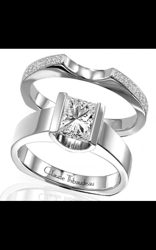 Claude Thibaudeau European Micro-Pave Engagement ring PLT-1427 product image