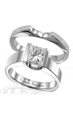 Claude Thibaudeau European Micro-Pave Engagement Ring PLT-1427 product image