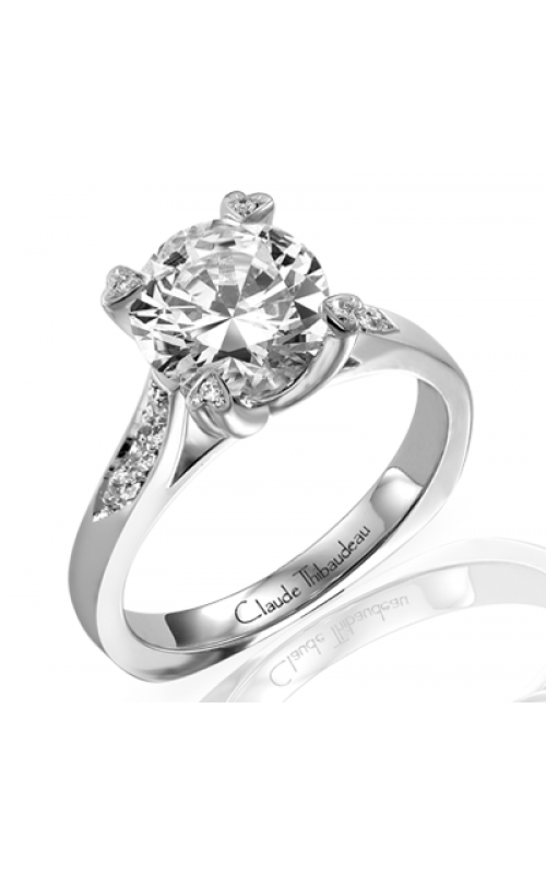 Claude Thibaudeau European Micro-Pave Engagement ring PLT-1575-MP product image