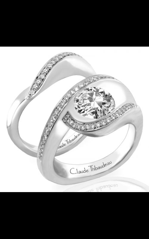 Claude Thibaudeau European Micro-Pave Engagement ring PLT-163-MP product image