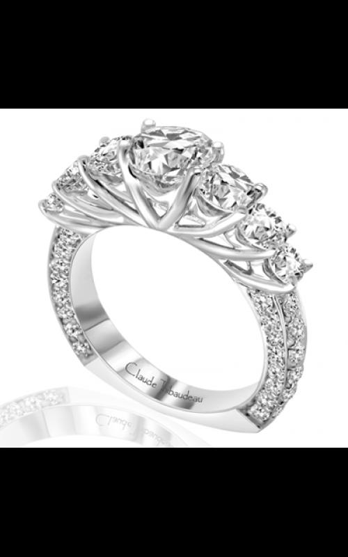 Claude Thibaudeau European Micro-Pave Engagement ring PLT-1762-MP product image
