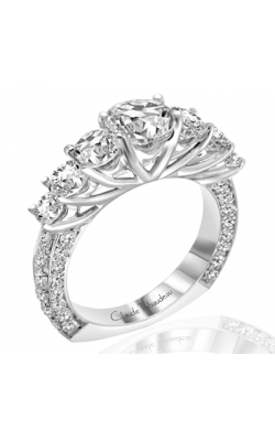 Claude Thibaudeau European Micro-Pave Engagement Ring PLT-1763-MP product image