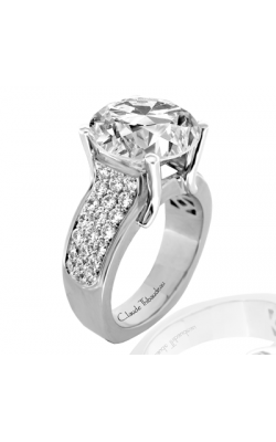 Claude Thibaudeau European Micro-Pave Engagement Ring PLT-1778-MP product image