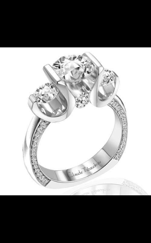 Claude Thibaudeau European Micro-Pave Engagement ring PLT-1790-MP product image