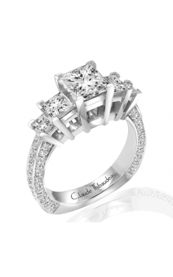 Claude Thibaudeau European Micro-Pave Engagement Ring PLT-1806-MP product image