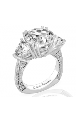 Claude Thibaudeau European Micro-Pave Engagement Ring PLT-1824-MP product image