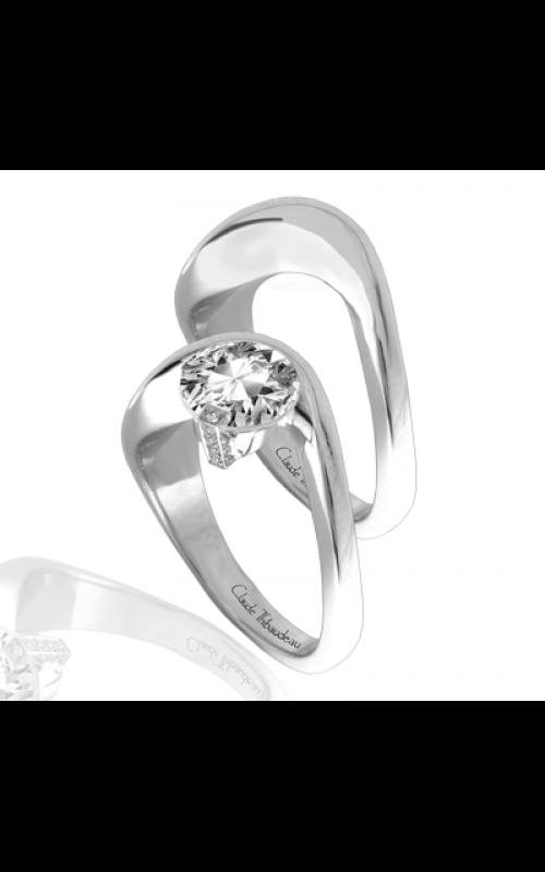 Claude Thibaudeau European Micro-Pave Engagement ring PLT-1845-MP product image