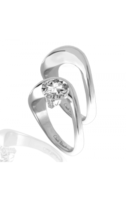 Claude Thibaudeau European Micro-Pave Engagement Ring PLT-1845-MP product image