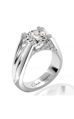 Claude Thibaudeau European Micro-Pave Engagement Ring PLT-1846-MP product image