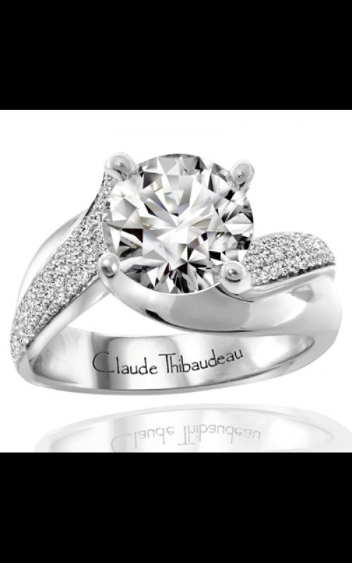 Claude Thibaudeau European Micro-Pave Engagement ring PLT-1847-MP product image