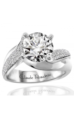 Claude Thibaudeau European Micro-Pave Engagement Ring PLT-1847-MP product image