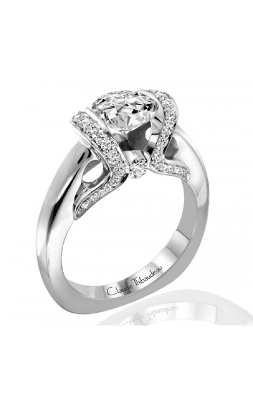 Claude Thibaudeau European Micro-Pave Engagement ring PLT-1854-MP product image