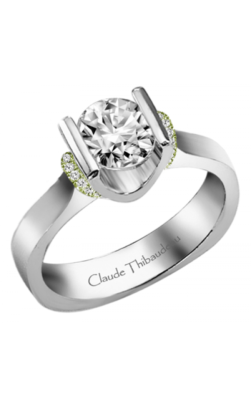 Claude Thibaudeau European Micro-Pave Engagement ring PLT-1859V-MP product image
