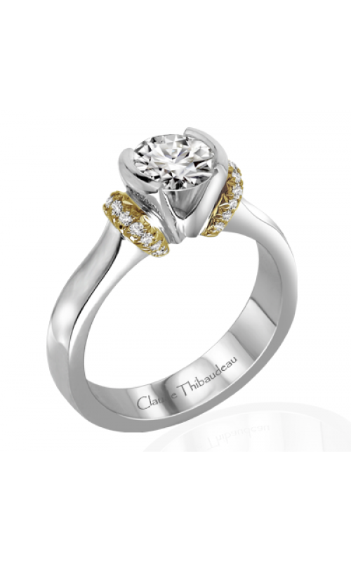 Claude Thibaudeau European Micro-Pave Engagement ring PLT-1864-MP product image