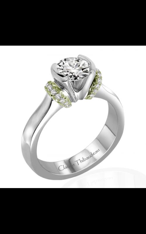 Claude Thibaudeau European Micro-Pave Engagement ring PLT-1864V-MP product image