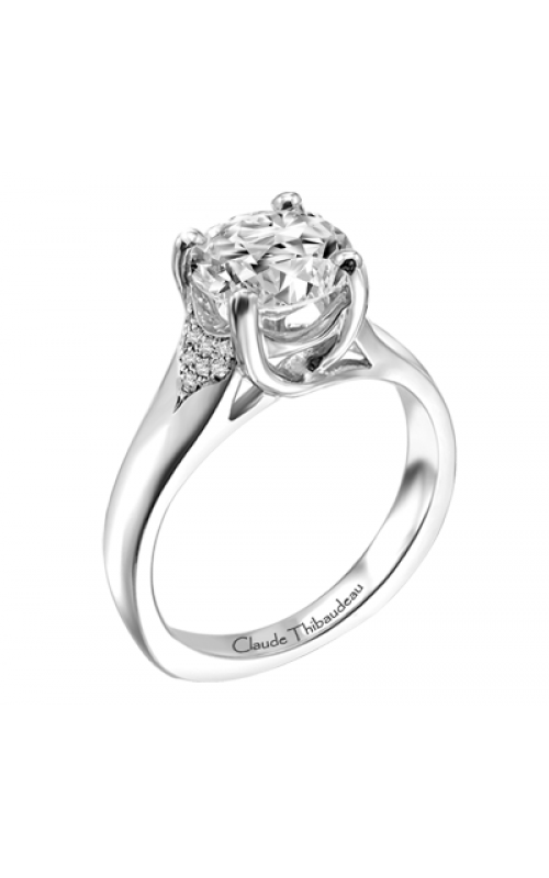 Claude Thibaudeau European Micro-Pave Engagement ring PLT-1869-MP product image
