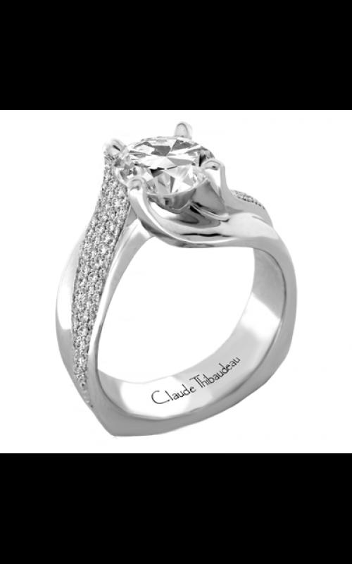Claude Thibaudeau European Micro-Pave Engagement ring PLT-1872-MP product image
